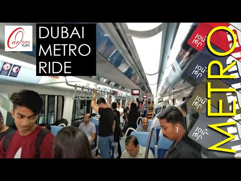 Dubai Metro - Rail Network in the city of DUBAI | Red & Green Line around the city. Underground line