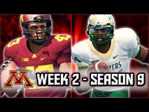 NCAA Football 14 Dynasty:  Week 2 vs UAB - Aaron Higdon's UAB Debut! - Season 9