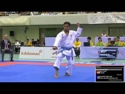 FINAL. Male Kata. Abolfazl SHAHRJERDI of Iran. 2018 FISU World University Karate Championships