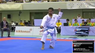 FINAL. Male Kata. Abolfazl SHAHRJERDI of Iran. 2018 FISU World University Karate Championships.