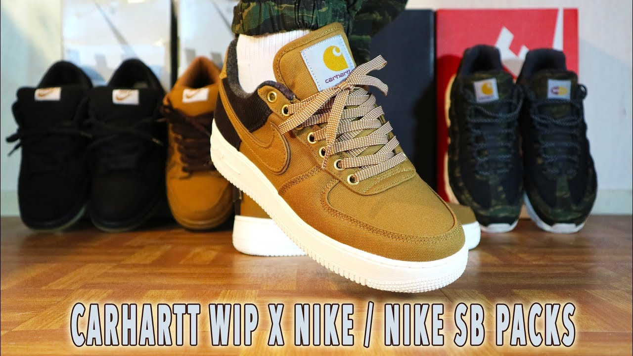 Nike X Carhartt Air Force 1 Review & on feet KixFix ( Nike SB dunk Low, Air Max 95 )