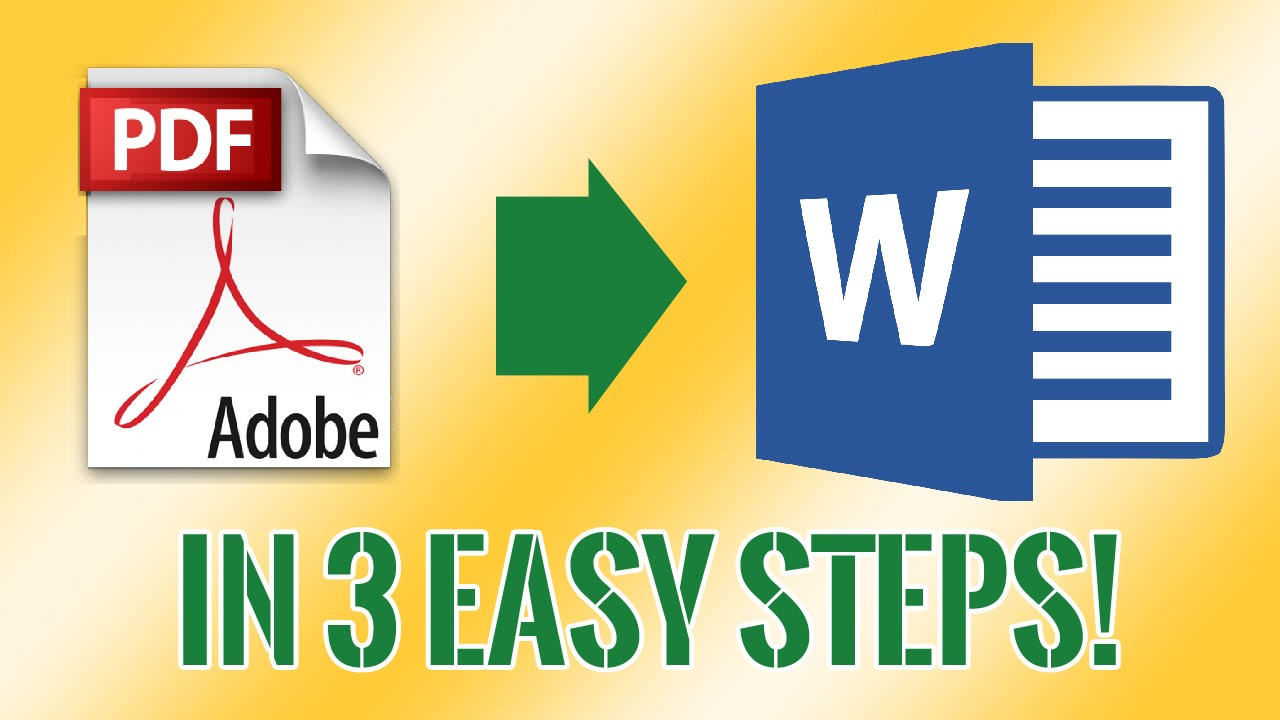 steps to convert pdf to word