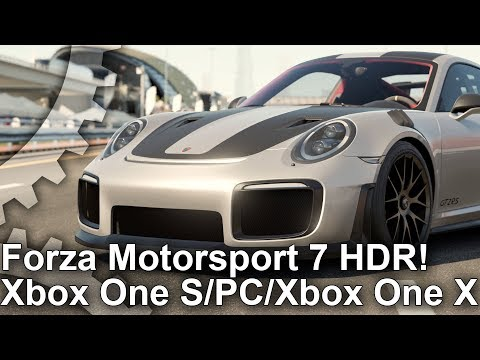 [4K HDR] Forza Motorsport 7 HDR Xbox One X/ PC/ Xbox One S Comparison