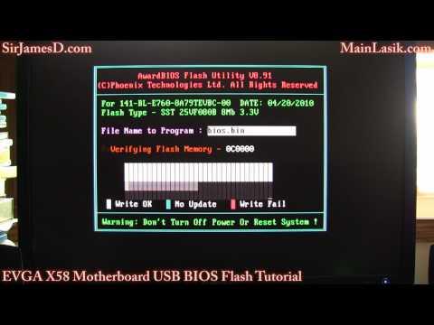 EVGA X58 Motherboard USB BIOS Flash Tutorial (I show myself finally)