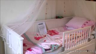 Ikea Hemnes Day-bed Design With Canopy And Bed Guard Rail For Kids