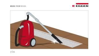 EGGER návod na opravu poškodenej podlahy pri systéme JUST clic!