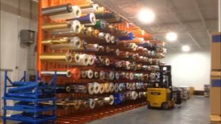 Heavy-duty Cantilever Storage Rack System Used For Storing Large Paper Rolls