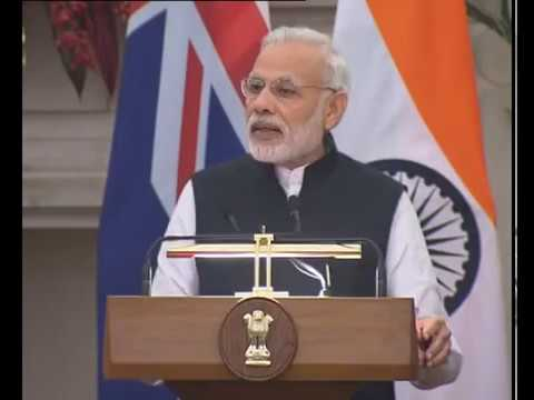 PM Modi's speech at Joint Press Statements with PM of New Zealand Mr John Key