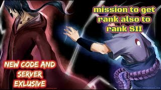 MISSION TO GET A RANK | ROBLOX SHINOBI LIFE | NEW CODE AND SERVER EXLUSIVE!