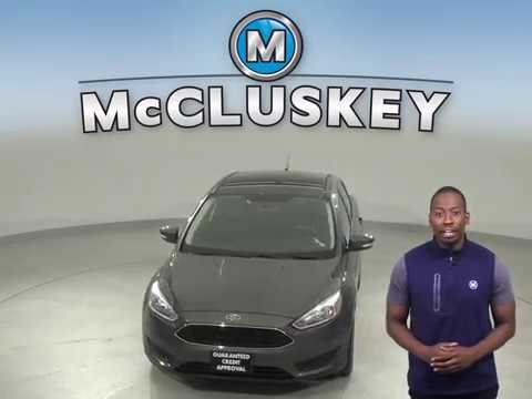 C13023NA Used 2017 Ford Focus SE FWD 4D Sedan Gray Test Drive, Review, For Sale -