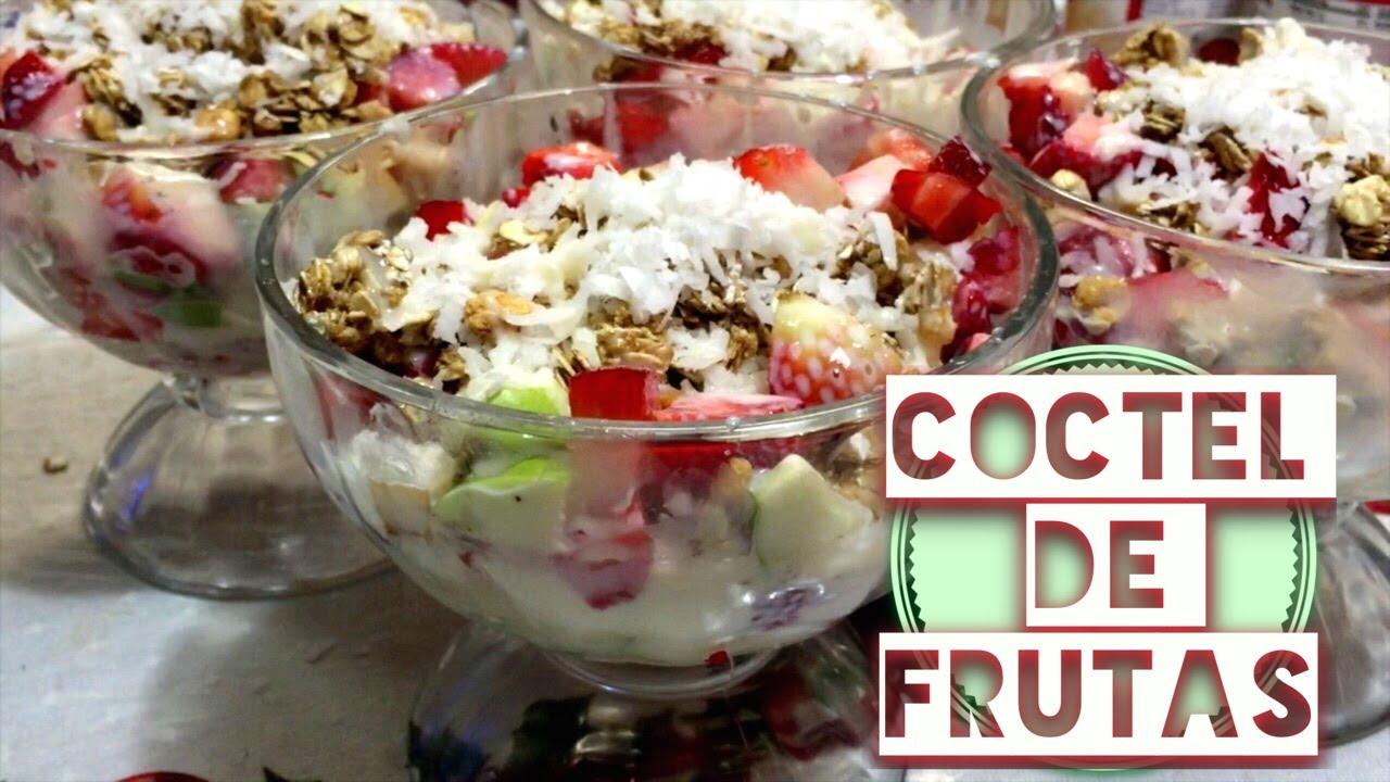 Receta postre ensalada coctel de frutas youtube - Como hacer coctel de frutas ...