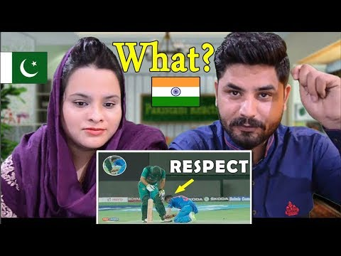 India vs Pakistan | Cricket Respect Moments | Sportsmanship | Emotions | Pakistani Reacts