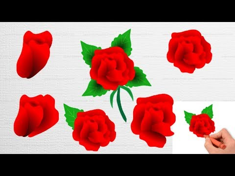 flowers-color-pages||-red-rose||coloring-flower-for-kids|