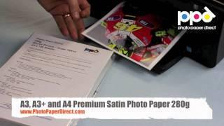 A3, A3+ and A4 Premium Satin Photo Paper 280g