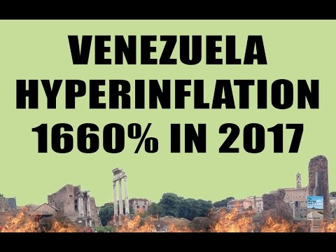 Venezuela Hyperinflation Set to Hit 1660% in 2017! Forced to Sell Gold and Flood the Market!