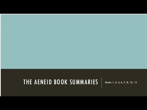 Virgil's Aeneid - Summary Part 1