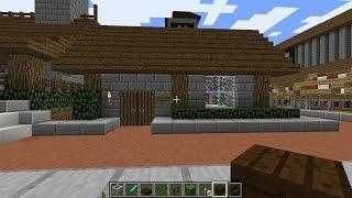 minecraft village butcher blacksmith shops
