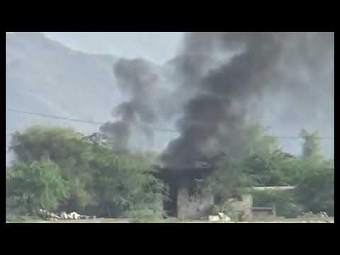 انفجار مخزن أسلحة للمليشيات الحوثية في شمال حيس