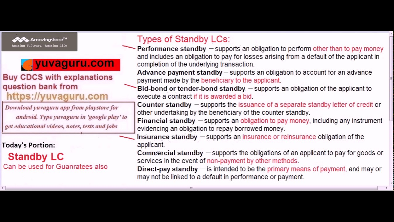 Cdcs video lectures standby lc format types by vishal mantri 91 cdcs video lectures standby lc format types by vishal mantri 91 9960560404 mitanshu Gallery