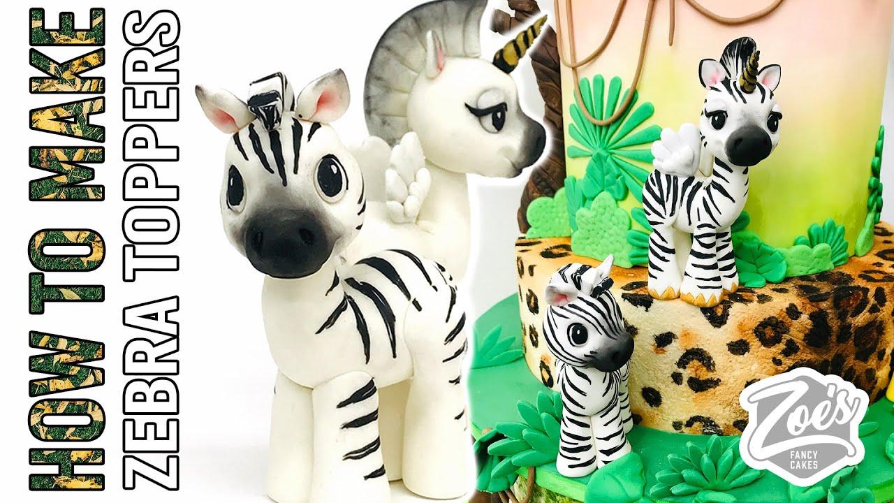 How to make Zebra & Unicorn cake toppers