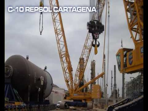 Transport with SPMTand heavy lift of vessels REPSOL Cartagena refinery (Spain)