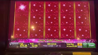 Free spin bonus on lucky lady's charm deluxe 3rd spin in.