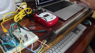 Ribbon Controller using Arduino + position & pressure sensors
