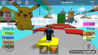Roblox Parkour's Pokemon go and young titans in design and minions