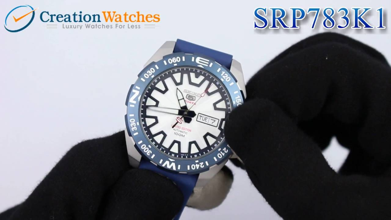 Seiko 5 Sports Automatic Limited Edition SRP783 SRP783K1 SRP783K Men s  Watch - YouTube 7e1ec1cb1d