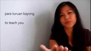 Introduction to Tagalog (Filipino) Language - with English and Tagalog subtitles