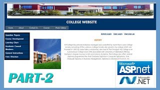 How to Create College Website in ASP.NET Part 2 | #CODERBABA |