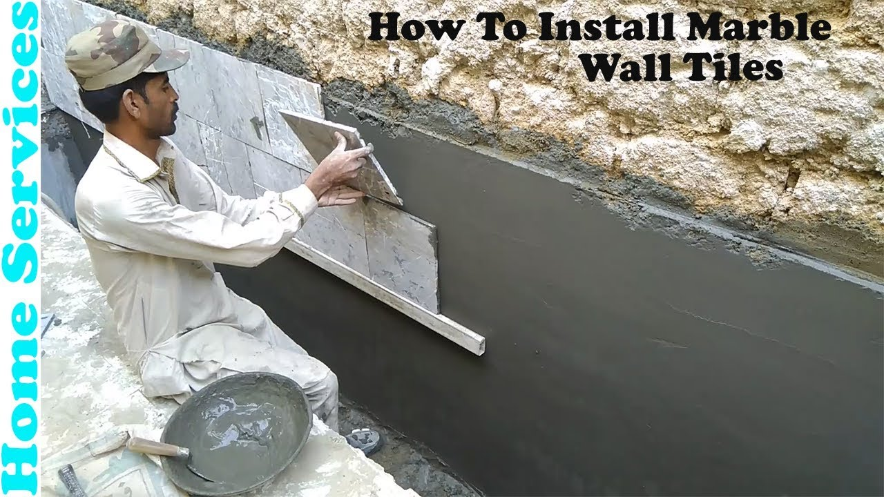Marble Tiles Wall Installation How To Install