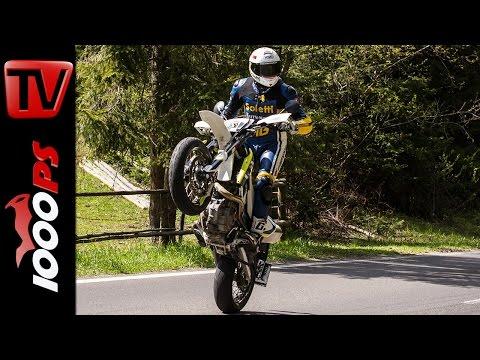 Husqvarna 701 Supermoto Test 2016 | Motorrad Quartett | Action, Onboard, Details