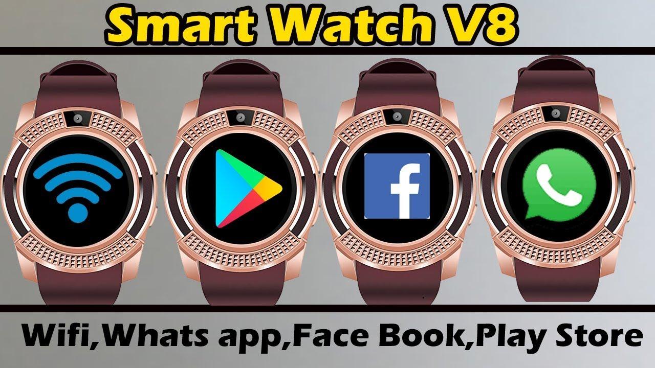 Smart watch v8 Wifi,Whats app,Face book,Play store,Secret codes|| v8 smart  watch| AlirazaTV