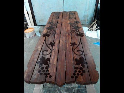 Cмотреть видео стол для дачи своими руками (a table made of wood)