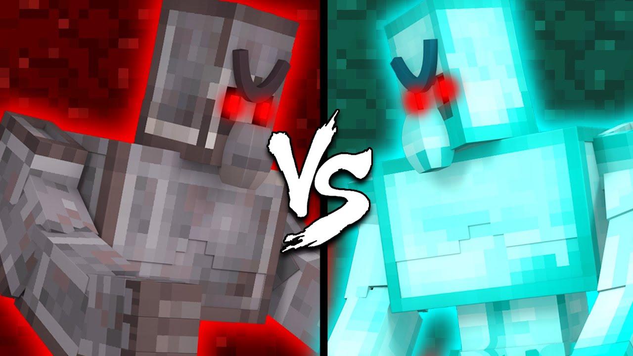 Netherite Golem vs. Diamond Golem - Minecraft
