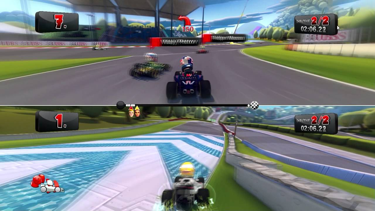 Split screen pc racing games