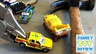 Disney Cars 3 Toys DiY HOW TO Make Custom Thunder Hollow Taco APB & T-Bone from Hot Wheels Matchbox