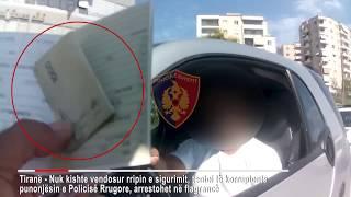 Tentoi të korruptonte policët me 1 mijë lek se e ndaluan për rrip sigurimi, arrestohet 28-vjeçari