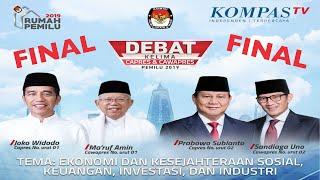 LIVE DEBAT FINAL Pilpres 2019 -- Jokowi-Amin vs Prabowo-Sandiaga --