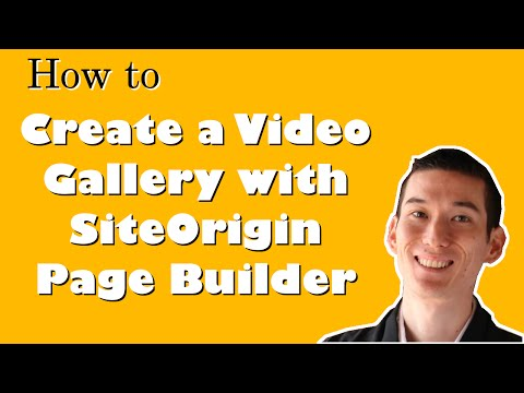 How to Create a Video Gallery with SiteOrigin Page Builder