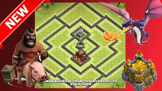 The BEST New Th10 Hybrid Base! The Castle - Anti-Mass Golem & Gowipe | Clash Of Clans