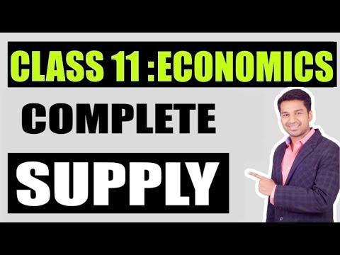 Class 11 : MICRO ECONOMICS | SUPPLY - Complete Concept