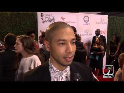 Jussie Smollett from EMPIRE at the NAACP Image Awards