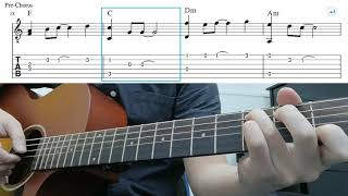 Nothing's Gonna Change My Love For You - Easy Fingerstyle Guitar Tutorial With Tabs