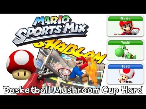 Mario Sport Mix - Basketball - Mushroom Cup Hard (Co-Op)