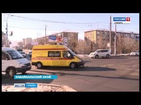 Авария со скорой помощью в Чите: водитель маршрутки не пропустил медиков на перекрестке