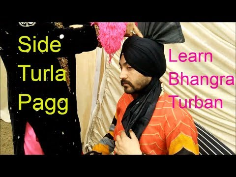 How To Tie Bhangra Turban | Side Turla pagg tutorial | Video By Golden Bhangra Group And Academy