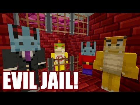 Minecraft Switch - Nintendo Fun House - BOWSER JR GOES TO EVIL JAIL! [TROUBLE!] [176]