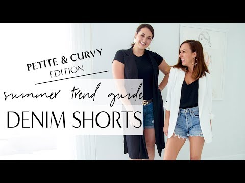 Petite & Curvy: How to Wear DENIM SHORTS I Summer Trend Guide 2